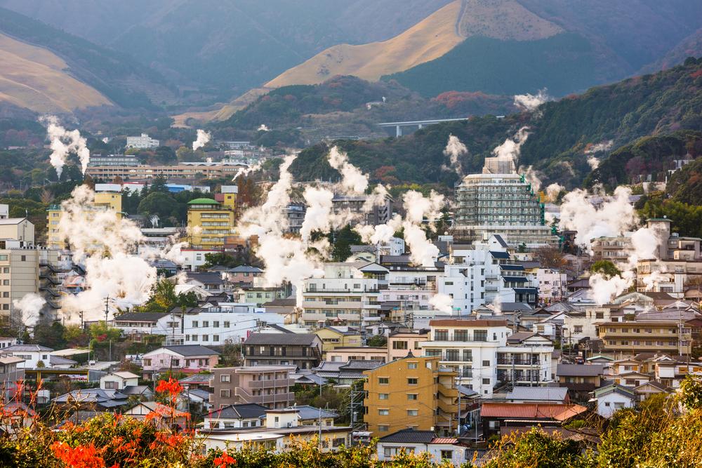 Sicht auf Beppu