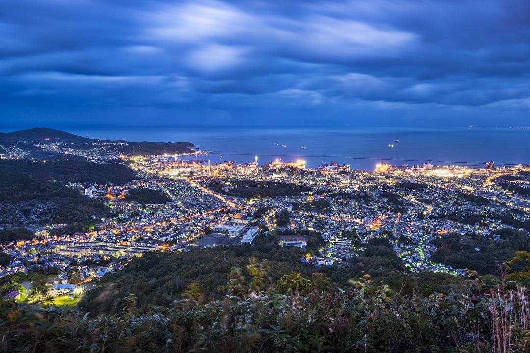 Otaru Stadtbild Nacht