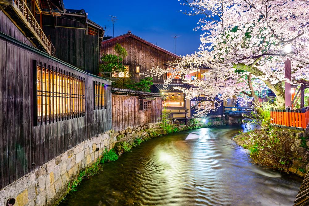 Fluss in Kyoto